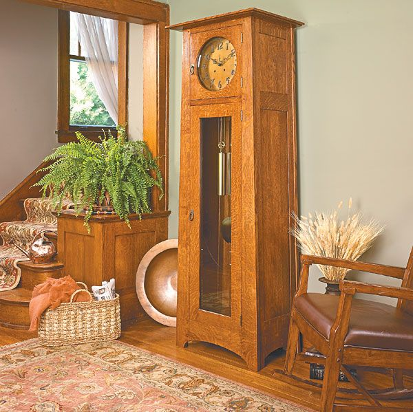 Craftsman style grandfather clock plan diy furniture recycling wo - Grandfather clock blueprints ...
