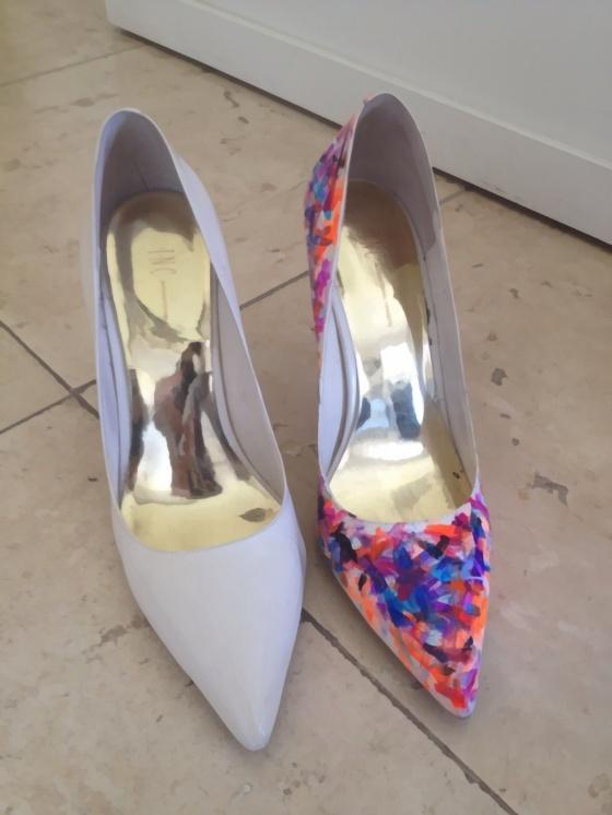 Nail Polish Painted Shoes Diy Diy Pinterest Polish