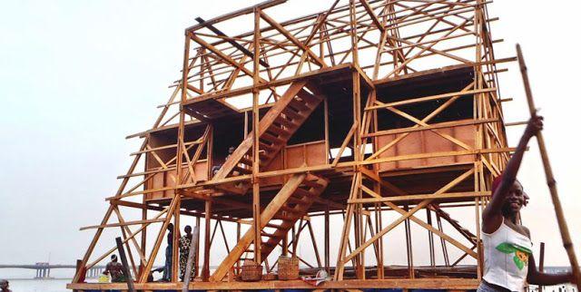 Una escuela flotante de madera para la población de Makoko en Nigeria Espacios…