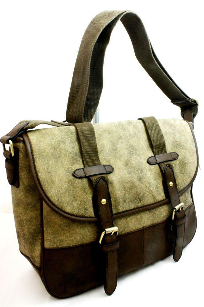 Borsa uomo Cartella Tracolla Lumberjack SHOULDER BAG MAN colore Verde