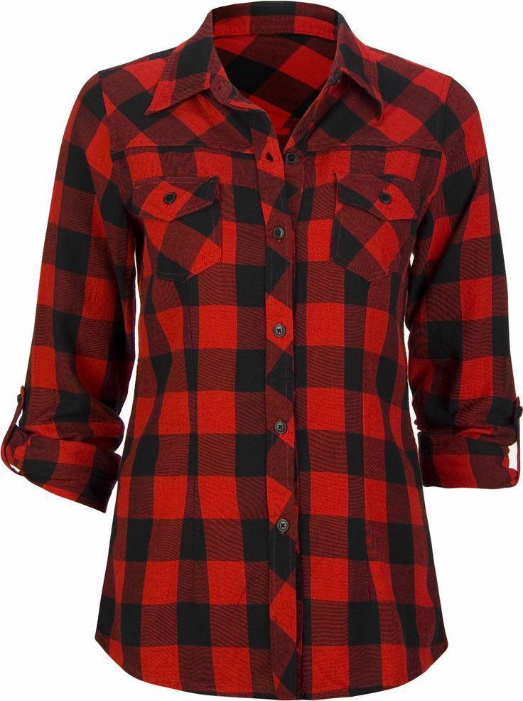 women plaid shirts, women plaid blouse, women check shirts , women check  blouse, - 410 Best Women Plaid Shirts Images On Pinterest Plaid Shirt