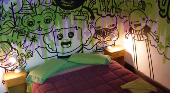 You won't find me sleeping in this room... - via 10 Art Hotels Around the World - MutualArt