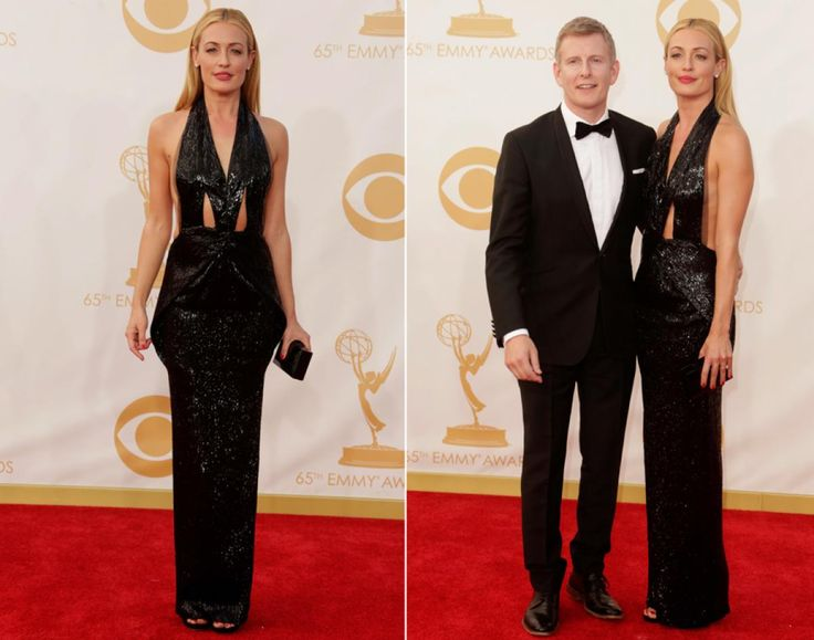"Cat Deeley normally looks super stylish when she hosts ""So You Think You Can Dance,"" but the TV personality made a fashion blunder on the red carpet. The television host wore an unflattering cut-out black Armani gown that did nothing for her incredible figure, but at least she had her husband, Patrick Kielty, by her side."