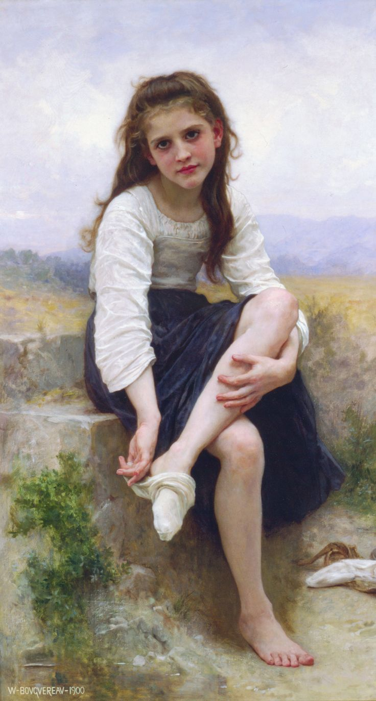 The Young Shepherdess | FRENCH PAINTERS: William-Adolphe BOUGUEREAU