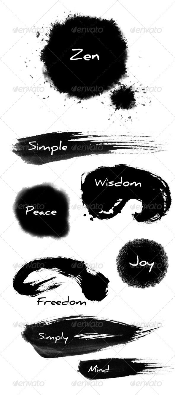 Zen ink buddhism fonts and meditation
