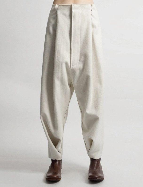 Futurictic Original Ofelya Ladies Woolen Trousers / Casual Drop Crotch Harem Pants - Big Carrot Pants Hanging Crotch Pants Collapse