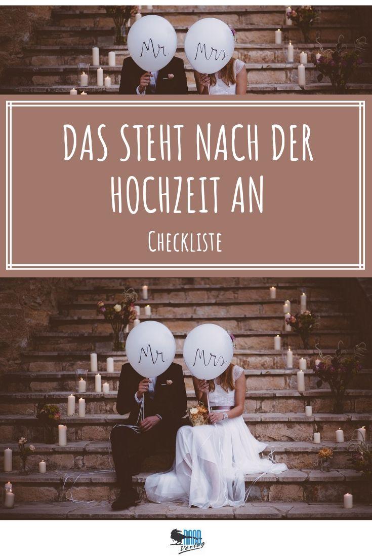 Checkliste Nach Der Hochzeit Pdf Alle To Dos Behordengange Hochzeit Hochzeitsplanerin Checkliste