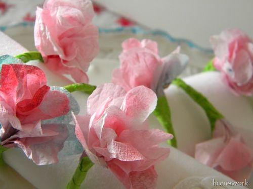 Gorgeous spring napkin rings at Carolyn's Homework