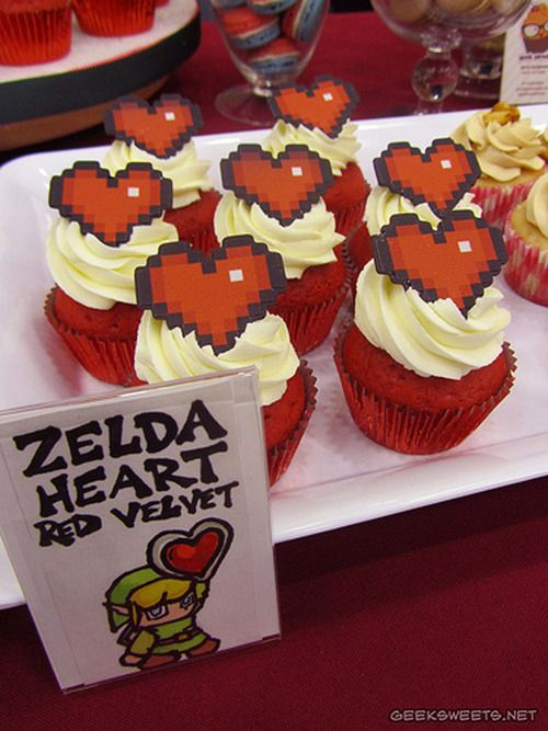 SWEET HEART ZELDA CUPCAKES FOR YOUR SWEETHEART These Legend of... #Cake