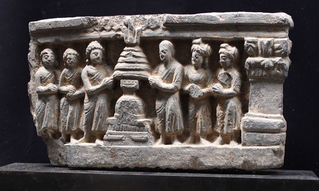 Stupa, A.D.2 ~ 3C, Swat , H.19cm × L.33cm