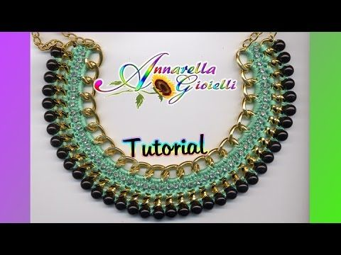 """▶ Tutorial Collana """"Egitto"""" all'uncinetto 