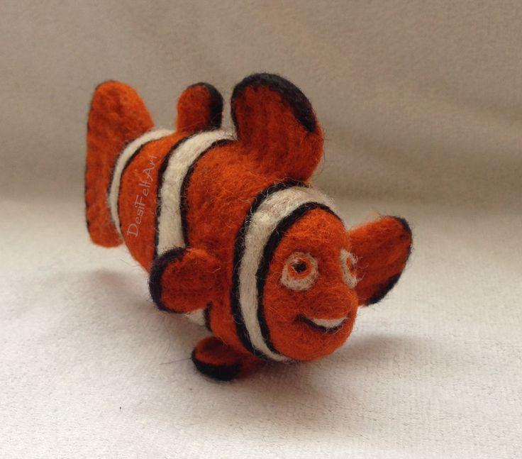 Needle Felted Nemo (Clownfish)