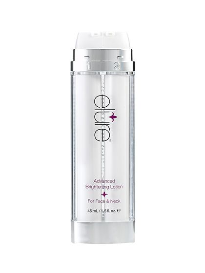 Elure Advanced Brightening Lotion. Every lightener takes at least three months to work—except Elure Advanced Brightening Lotion, which gets rid of dark spots in four weeks.