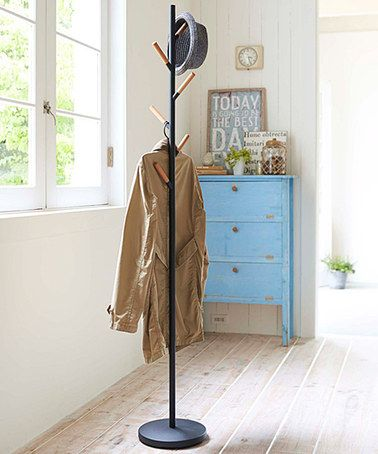 Another great find on #zulily! Black Hat & Coat Stand #zulilyfinds