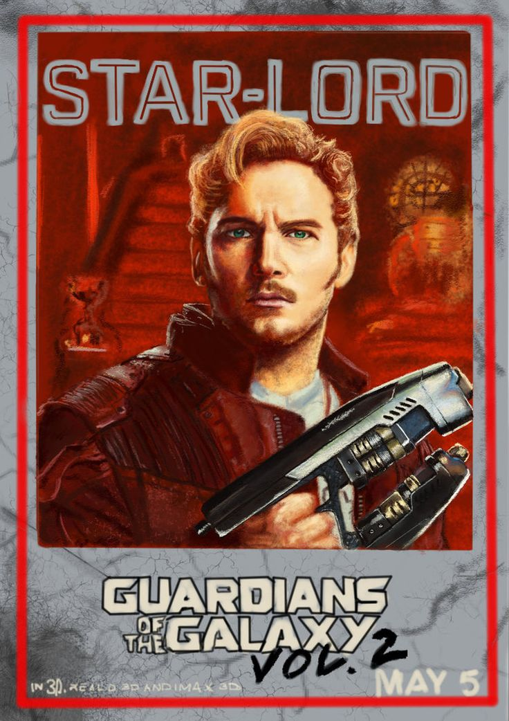 My fanart of Chris Pratt as Star-Lord/Peter Quill from the Guardians of the Galaxy 2 poster