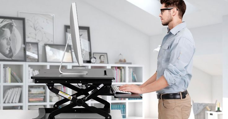 Buy Kogan Height Adjustable Standing Desk Riser (Small, Black) from Kogan.com. Ergonomically designed with your health in mind, the Kogan Height Adjustable Standing Desk Riser sits on top of your existing desk and can be raised or lowered in seconds. Can help to eliminate back pain caused by sitting at work Sits right on top of your existing desk Height adjustable with innovative gas lift function Sturdy and durable – holds up to 15kg with ease W....