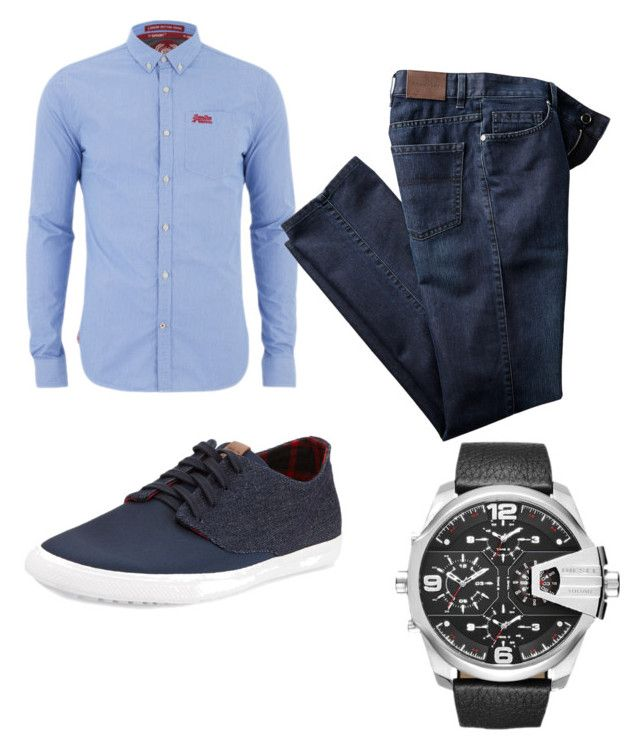 """Untitled #4"" by x-anna-a on Polyvore featuring Superdry, Ben Sherman, Diesel, men's fashion and menswear"