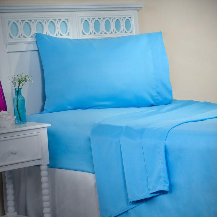 Lavish Home 1200 4-Piece Sheet Set, Full, Blue - OxyBeta