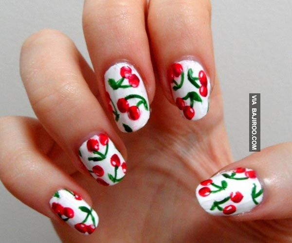 14 Lovely Prints for Summer Fruit Nail Designs - Best 25+ Cherry Nail Art Ideas On Pinterest Cherry Nails, Nail