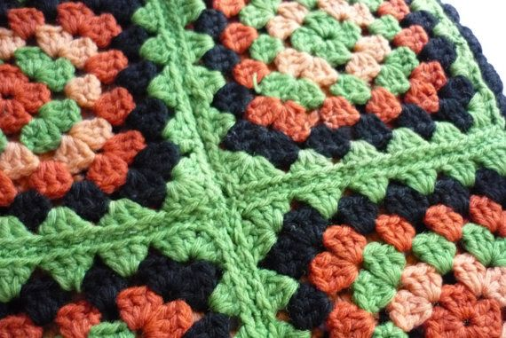 Lovely Granny Square Pillow Cover by LindsayJanesCottage on Etsy, $23.00 ..... I love these colors....