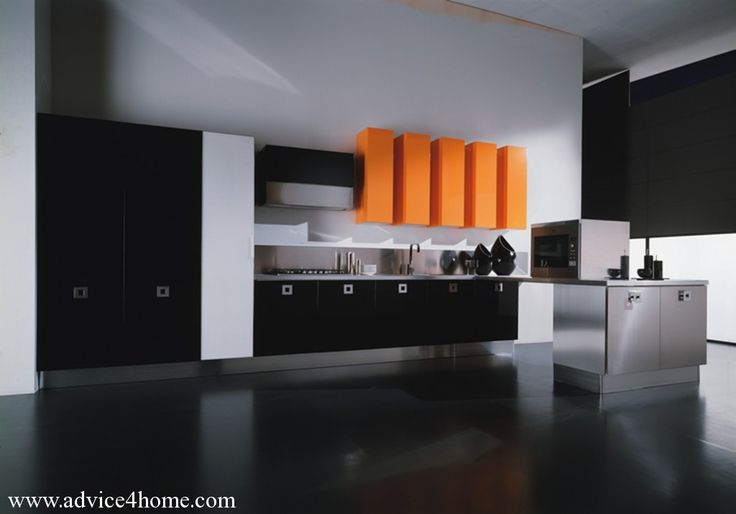 cabinets aligned on one side