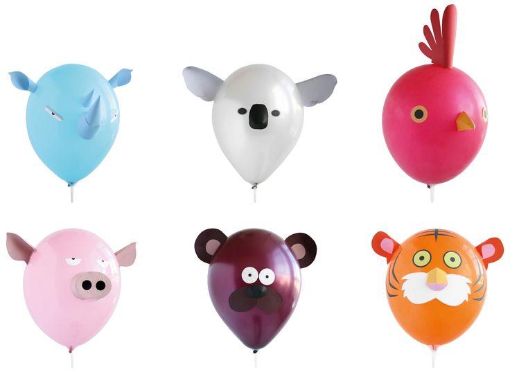 Balony w kształcie zabawnych zwierzaków NPW Air Heads Animals