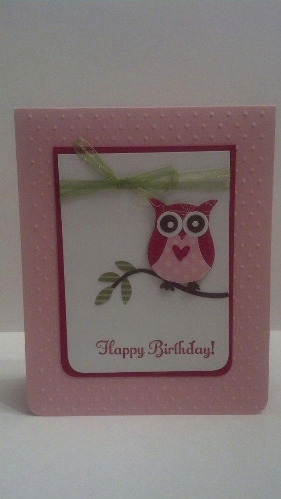 Owl Birthday Card Stampin Up Handmade