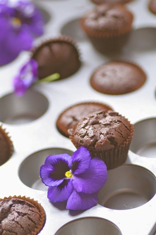 Flourless Chocolate Cupcakes | Gluten-free | Pinterest