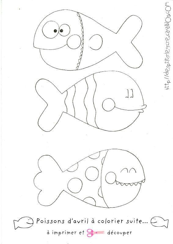 poissons d'avril à colorier et imprimer suite