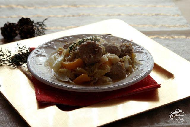 Intrusa na Cozinha: Almôndegas com Abóbora e Couve-lombarda {Meatballs with Hokkaido and Savoy Cabbage}