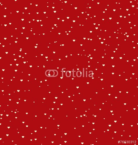 50 Wektor: Seamless pattern with white hearts isolated on red background