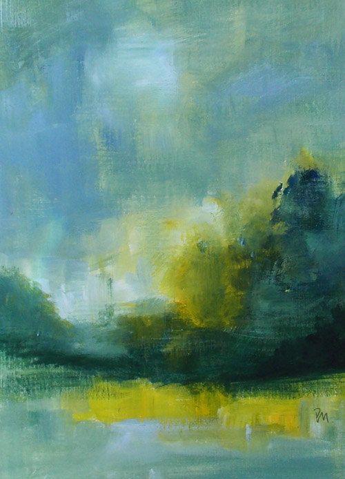 art oil painting original landscape abstract landscape