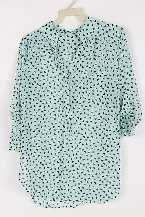 Sweet Heart Shirt in Pale Mint
