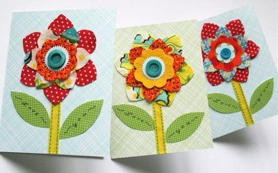 Also cute...love the idea of flowers, this is an idea to play off of.  She does have a template on here for these flowers.
