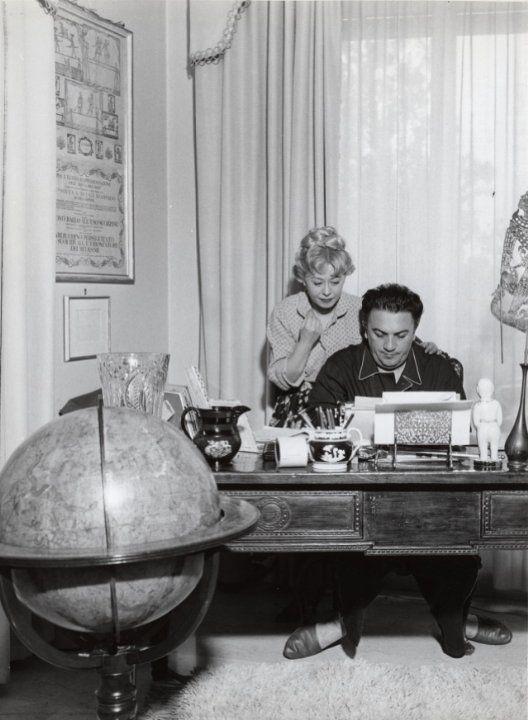 Federico Fellini and Giulietta Masina