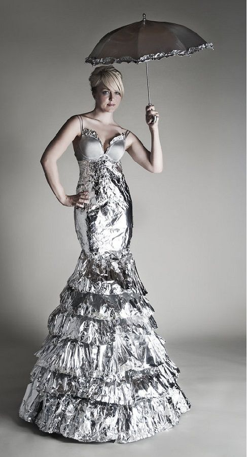 This foil dress is really funky, and I think the mermaid style skirt is stunning!