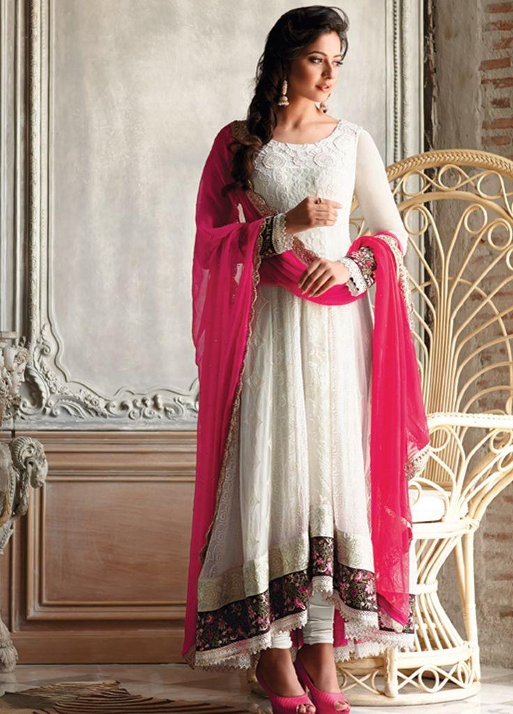 Beautiful and Charming #Rakul #Preet #Singh Dyed Bembarg #Anarkali Style #Suit.