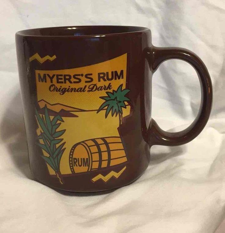 Myers Rum Original Dark Mug Brown/Gold Caribbean Liquor