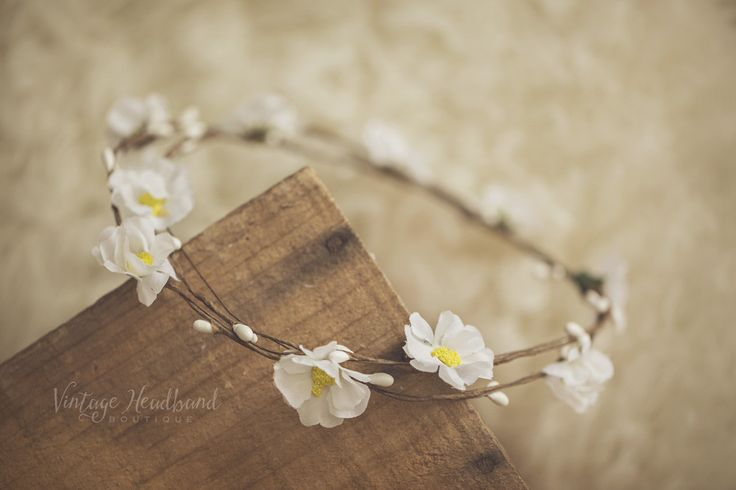 Cherry Blossom Garlands. Baby Headband, Newborn Headband, Womens Headband, Girls Headband, Flower Crown, Vintage Headband by Vintage Headband Boutique. www.vintageheadbandboutique.com.au