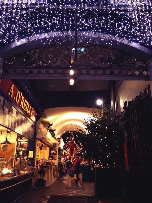 The English Market gets Christmassy. Tweeted by @cafegusto