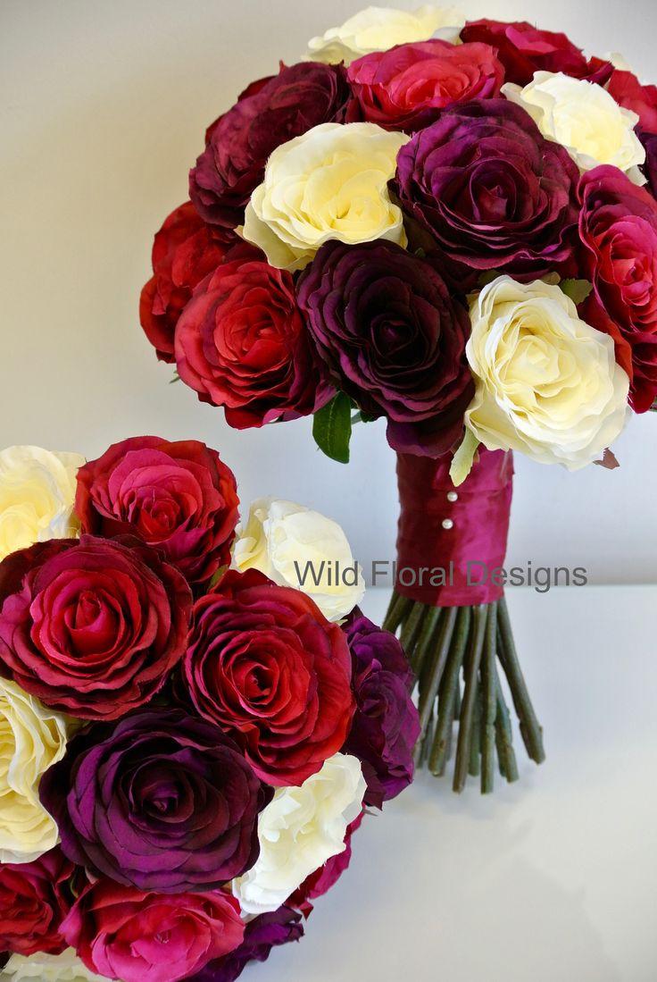 Silk Wedding Flowers Torquay Devon Rose Bouquets