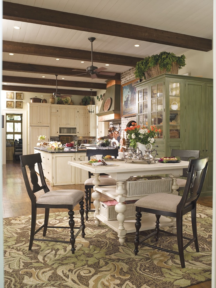 I Love The Painted Kitchen Table With StoragePainted TablesKitchen Dining RoomsOpen