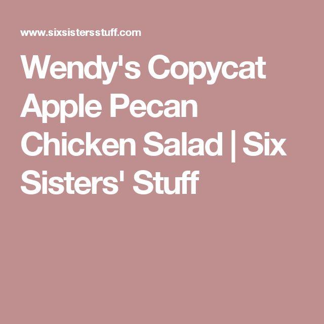 Wendy's Copycat Apple Pecan Chicken Salad | Six Sisters' Stuff