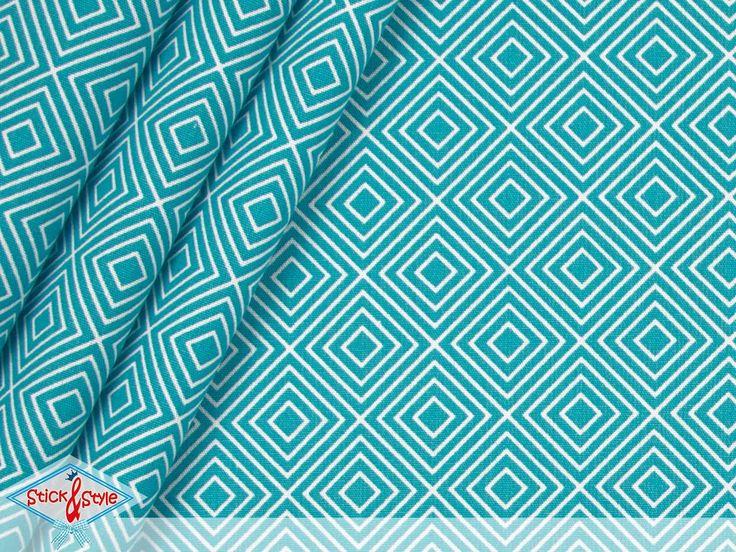 """Geometrics - Eine tolle neue Baumwollstoff-Serie, die den Begriff """"Basis Stoffe"""" in neuem Licht erstrahlen lässt! Das geometrische Muster gibt es in den beliebtesten Farben und kann problemlos mit anderen Mustern, wie Streifen oder..."""