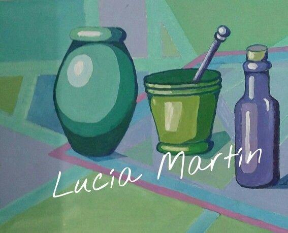 Bodegón Azul.Lucía Martín