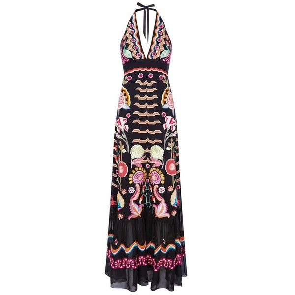Silk abstract splash maxi dress