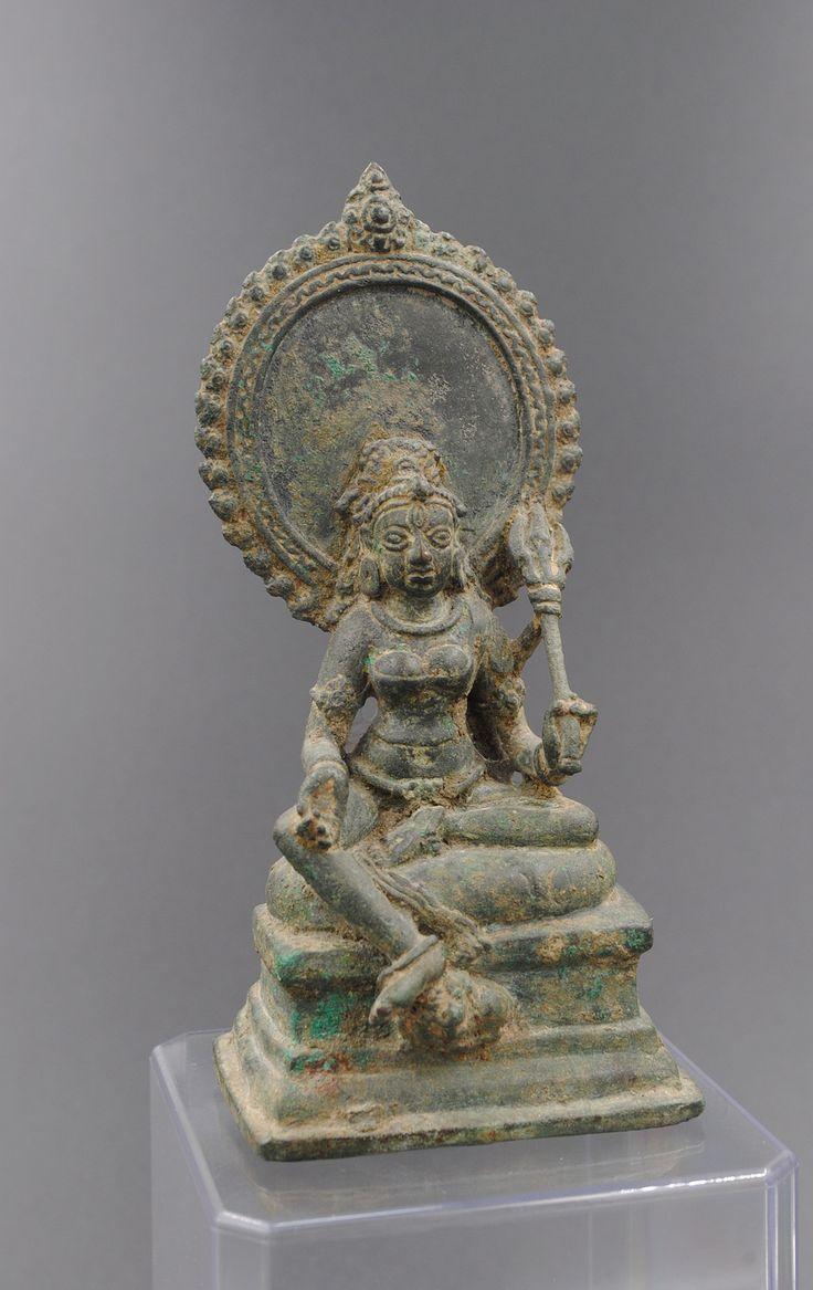 Parvati, Indonesia, Central Java, 10th century, Bronze, H: 12.7 cm. Ajaya Gallery.