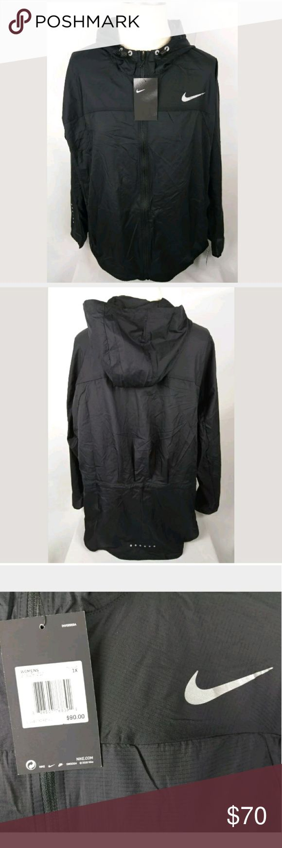 Nike Women's Impossibly Light Running Jacket 1X Nike Women's running jacket new with tags great condition size 1x MSRP is $90 made of 100% nylon and made in Vietnam Nike Jackets & Coats
