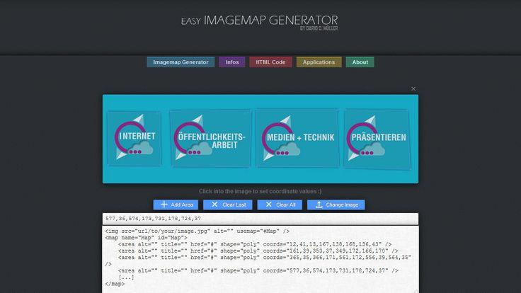 Im Easy Imagemap Generator können verschiedene Bereiche für die Verlinkung ausgewählt werden. Die Anleitung um mit dem Easy Imagemap Generator eine Grafik mit mehreren Links zu erstellen, gibt es auf medienkompass.de, dem Blog für die Medienarbeit