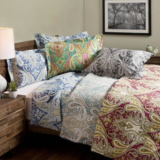 INK+IVY Mira 100 Cotton Paisley Spice 3-piece Duvet Set | Overstock.com Shopping - The Best Deals on Duvet Covers